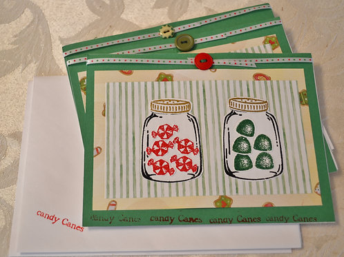 Candy Card Set in Green Item #1319