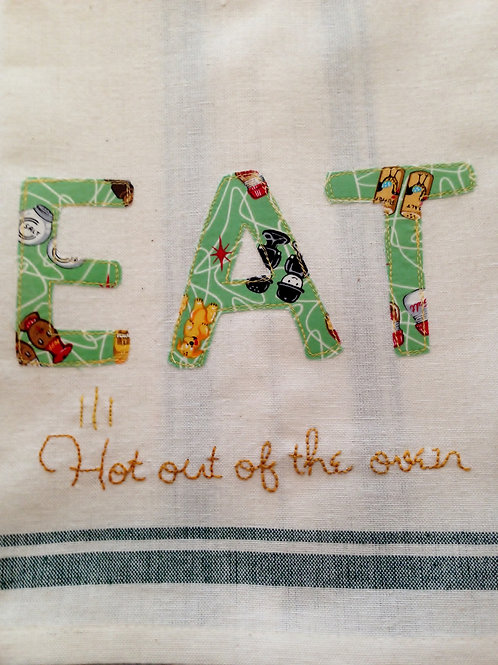 EAT Tea Towel  Item #1415