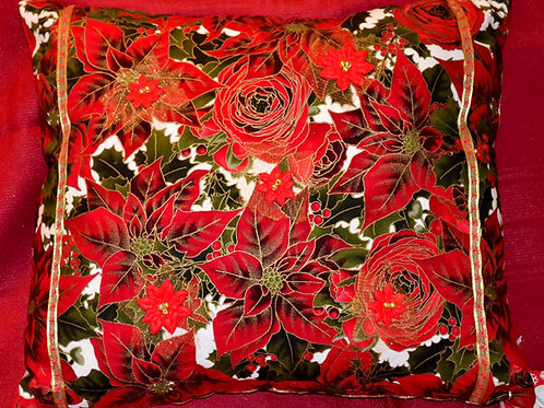 Poinsettia Pillow  Item #1301