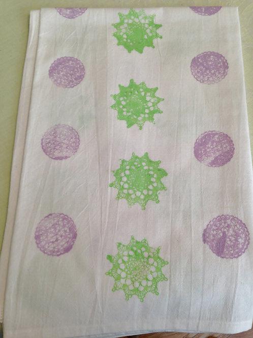Painted Doilies Tea Towel  Item #1425