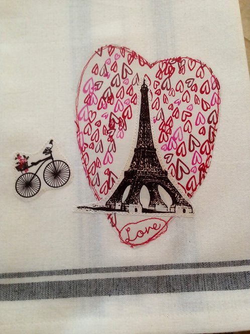 Paris Love Tea Towel