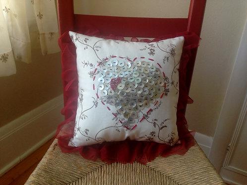 Heart-of-Buttons Pillow