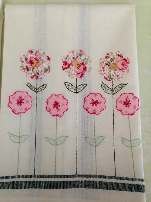 Pink Posey Tea Towel  Item #1422