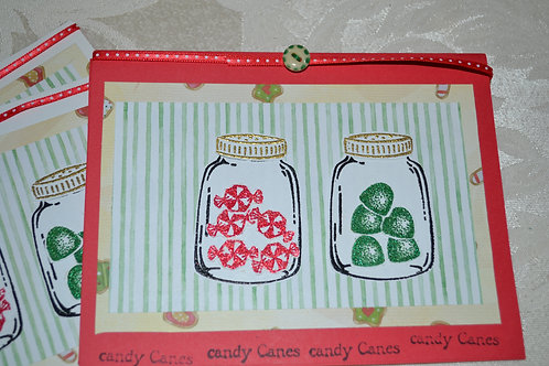Candy Card Set in Red Item #1317
