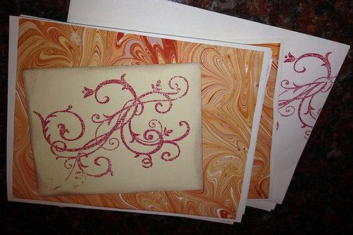 Scrolled Marbled Card Set  Item #1354