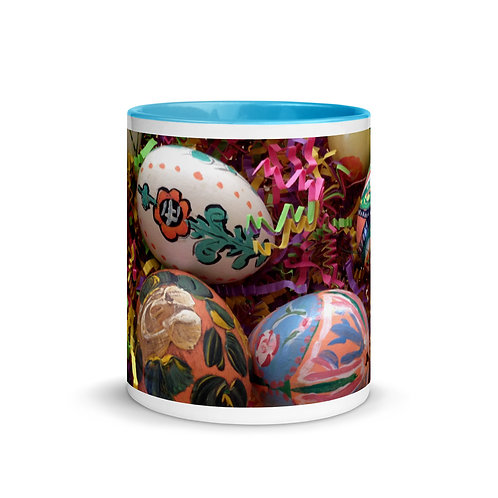 Easter Eggs Mug with Color Inside