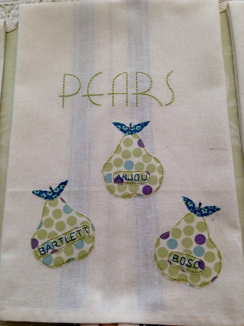 Pears Tea Towel  Item #1421