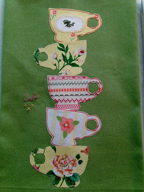 Towering Cups Tea Towel  Item #1408