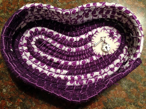 Heart Fabric Bowl  Sold