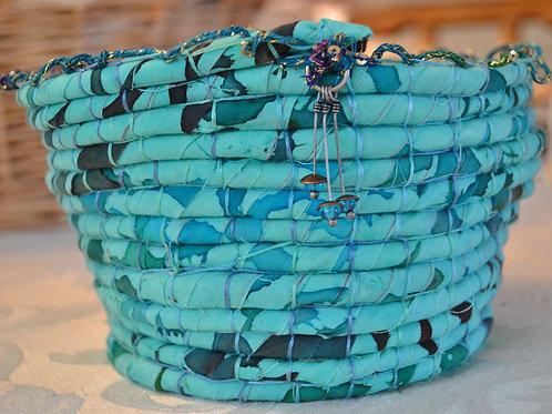Turquoise Fabric Bowl