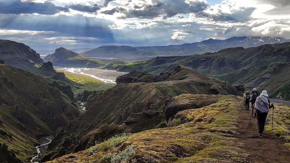 Descending into Thorsmork