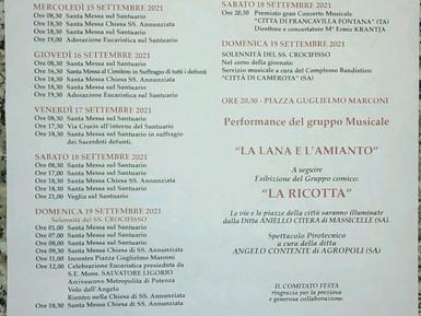 783ESIMIFESTEGGIAMENTI IN ONORE AL SS CROCIFISSO DEL SACRO MONTE DI BRIENZA