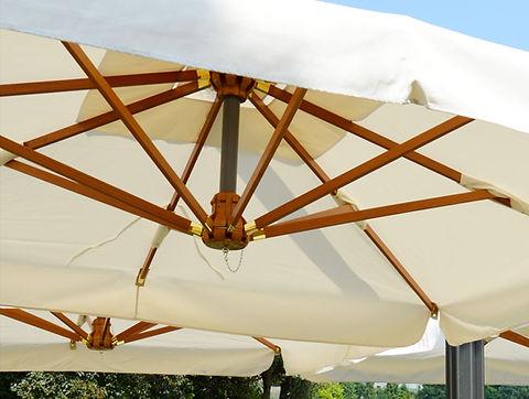 ombrelloni in legno 7x7