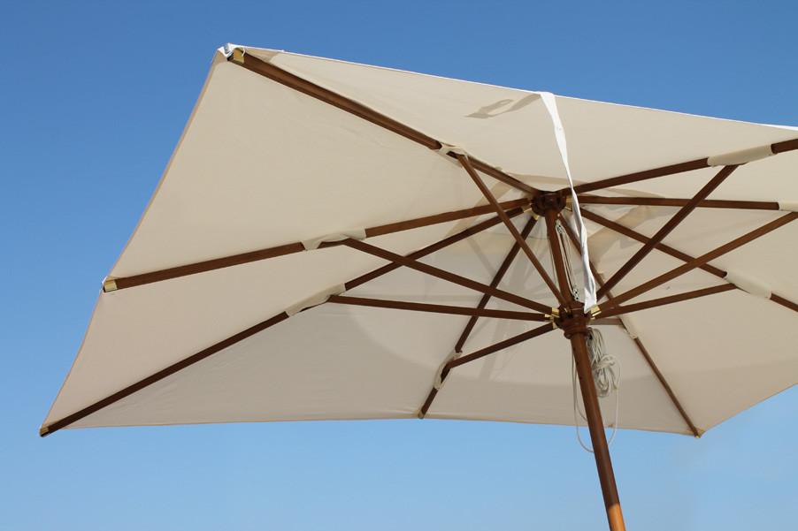 SYDNEY: ombrellone a palo centrale in legno