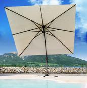 BLUES: ombrellone in alluminio