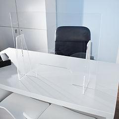 separatori plexiglass da scrivania