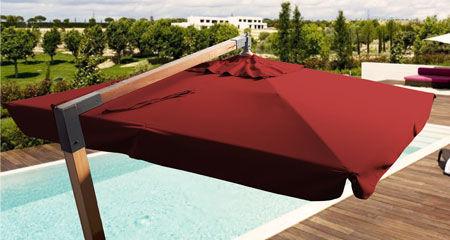 Produzione ombrelloni decentrati in legno