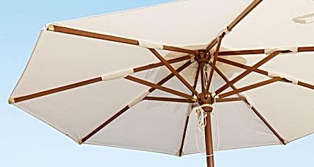 Fabbricazione ombrelloni da esterno in legno