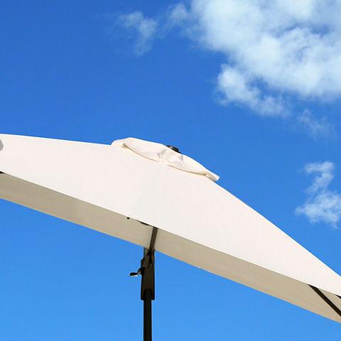 ombrellone con camino anti-vento
