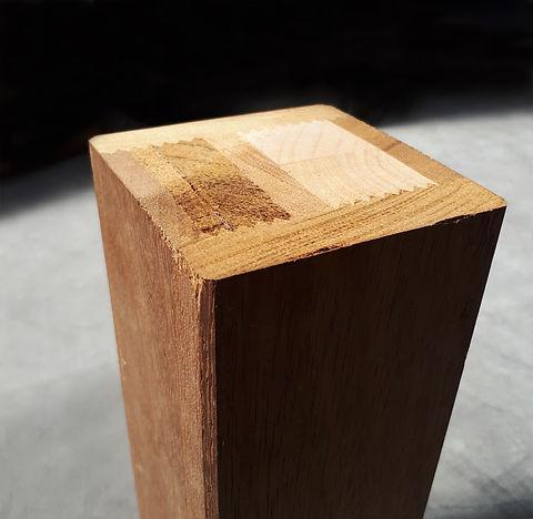 ombrellone laterale in legno iroko
