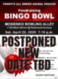 bingo bowl fundraiser april 25 2020 post