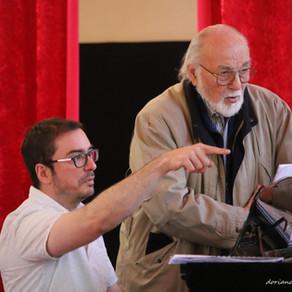 La preparación del cantante de ópera.