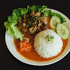 THb - Riz au bœuf curry thaï