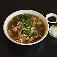 S1 - Soupe tonkinoise spéciale (Pho da biet) viande de boeuf, tripes, nerfs et boulettes