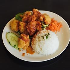 R21a - Riz au filet de poisson beignet à la sauce aigre-douce