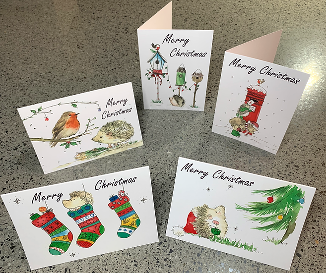 15 Christmas Cards - A6 in size, 5 different designs included