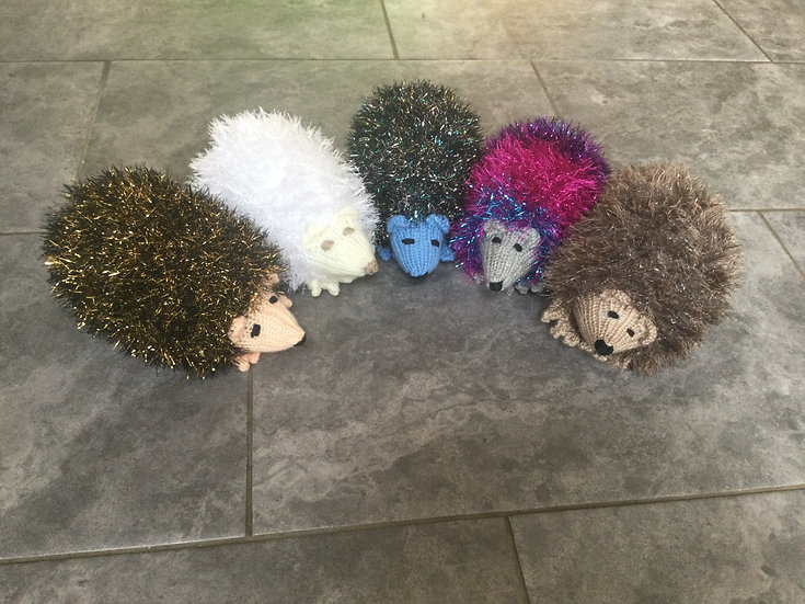 Large Knitted Hedgehogs