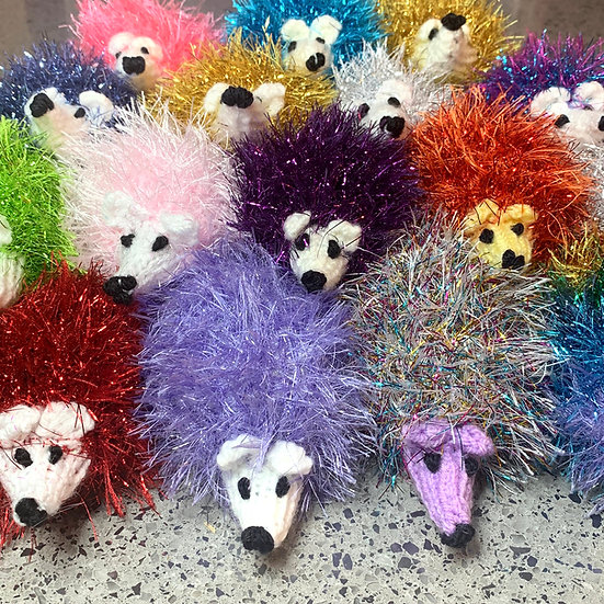 Knitted Hedgehog - handmade by a wonderful volunteer