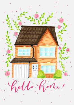 Hello Home House Portrait