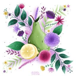 Pear, Lemon and Florals