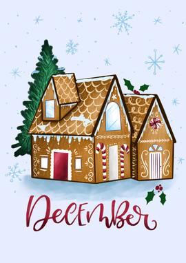 December - Gingerbread house