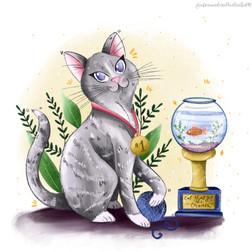 The Cat who got the Cream