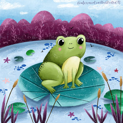Frog on Lillypad