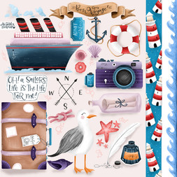 Nautical Scrapbooking Pages