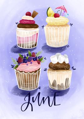 June - Cupcakes