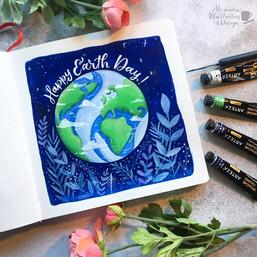Gouache Earth Day