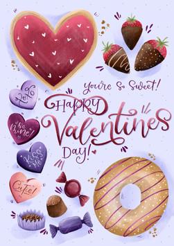 Sweet Treats Valentines Card