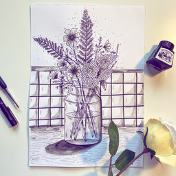 Pen and Ink Florals