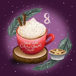 Cozy Christmas Hot Choc and Mince Pie