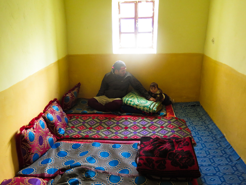 A traditional Berber room that is perfect for babies