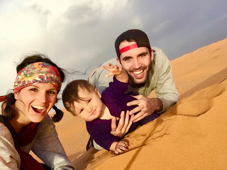 THE WORLD'S BIGGEST SANDBOX: Camel Trek in the Sahara with a Baby