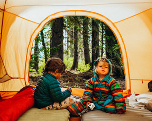 A peak inside our camping gear