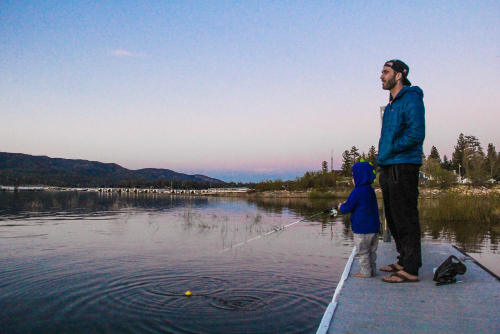 Fishing in Big Bear in the off-season