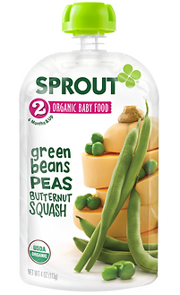 Sprout Organic Pouch: Green Beans, Peas, and Butternut Squash