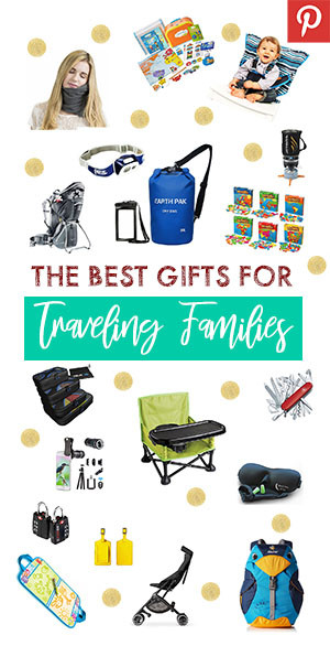 Pinterest pin for the best gifts for traveling families