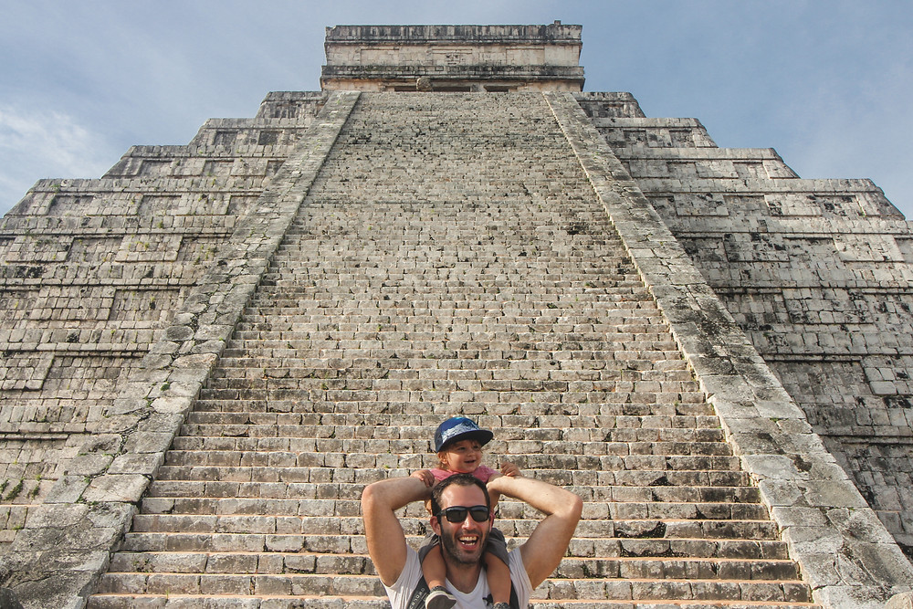 Chicen Itza with a baby
